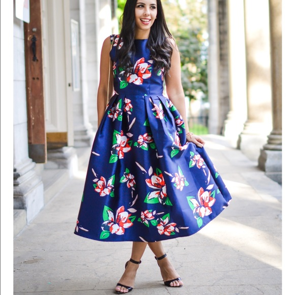 611ade8eec76 Chicwish Dresses   Skirts - Blue Chicwish Garden Party Dress